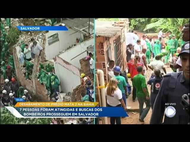 Desabamento de prédio em Salvador já contabiliza dois mortos
